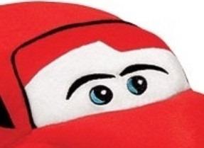 carro de pelúcia almofada vermelha 20x50 cm antialérgica