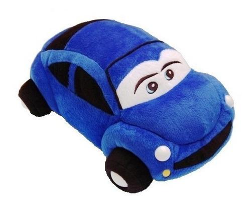 carro de pelúcia fusca azul 20 x 50 cm lavável antialérgico