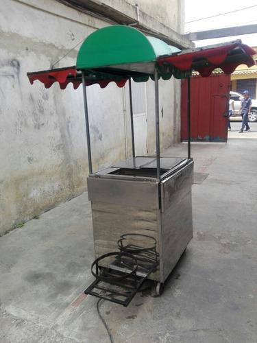 carro de perro calientes y hamburguesas