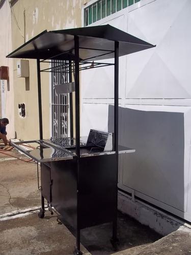 carro de perros calientes y hamburguesas