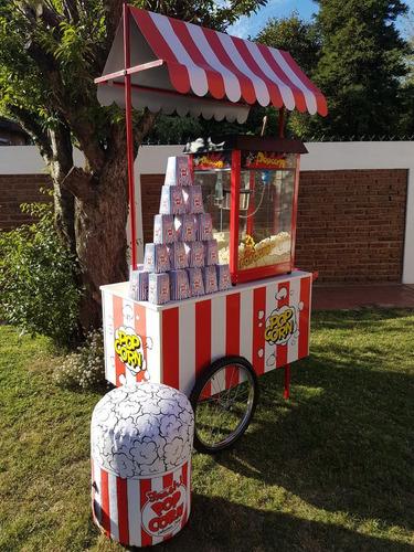 carro de pochoclos para eventos