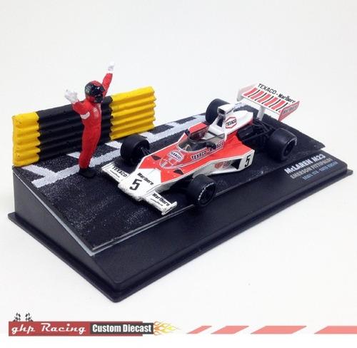 carro + diorama mclaren m23 fittipaldi - versão brasil gp