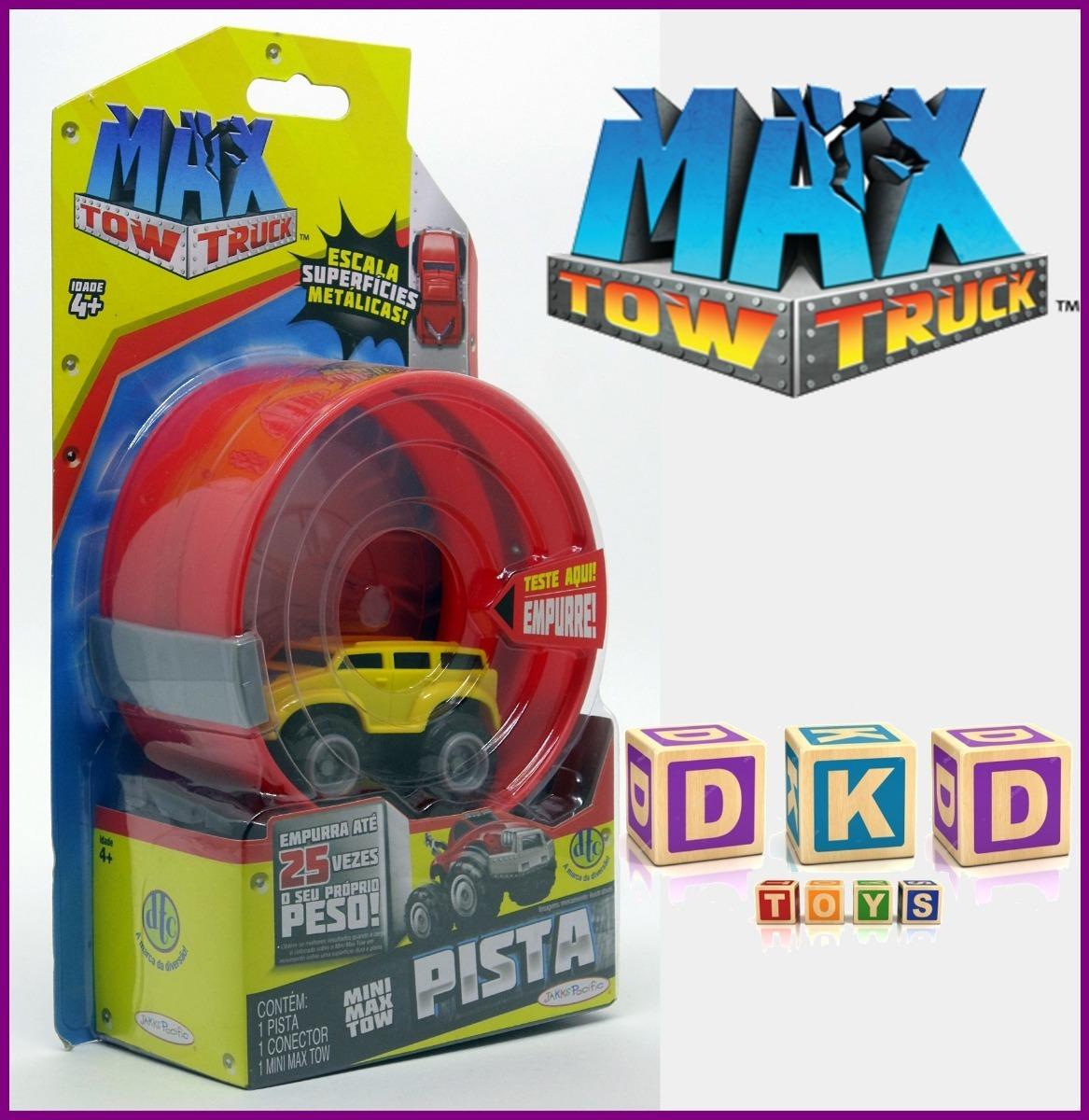 Carro E Pista Mini Max Tow Truck Amarelo Dtc R 2990 Em Mercado