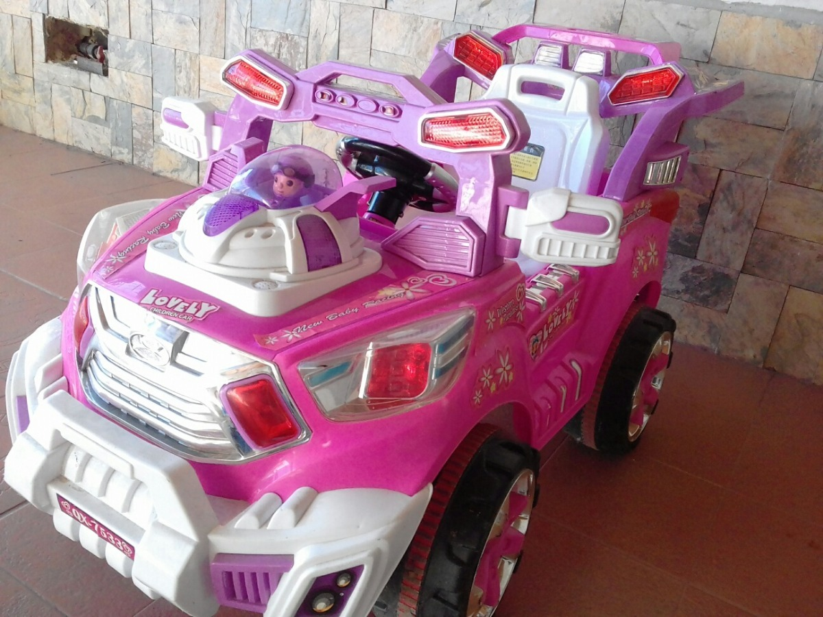 Carro Electrico Para Nina Juguete Con Control Y Bateria 6v Bs 6