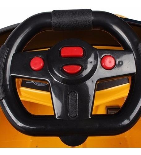 carro elétrico com controle remoto amarelo suporta 25kg