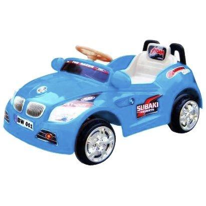 carro eletrico infantil azul buzina sons criança carrinho