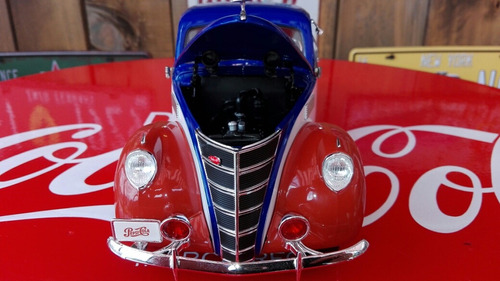 carro escala 1:18.lincoln zephyr 1937. pepsi cola