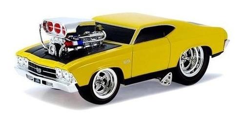 carro escala coleccion 1/24 chevrolet chevelle 1969 amarillo
