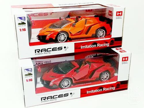 carro esportivo imitation racing rc 1:16 abre porta controle
