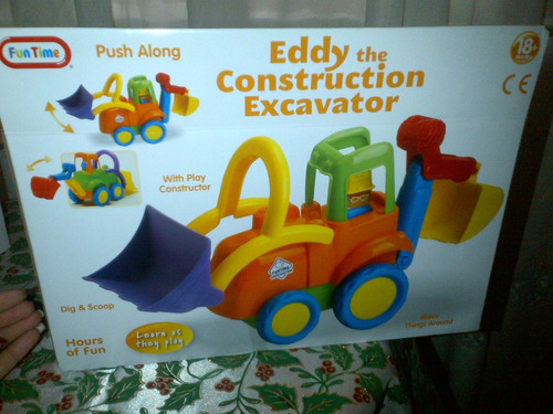 carro excavador y construccion fun time juguete para niño