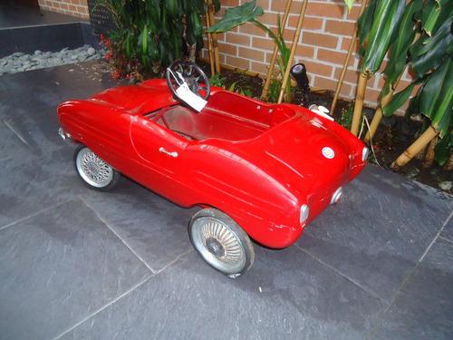 carro fiat spider italiano pedales 1958 antiguo reliquia