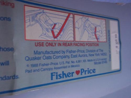 carro fisher price silla porta bebe