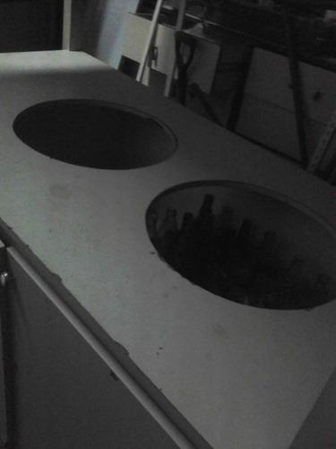 carro hallaquero o chichero con doble agujero para envases