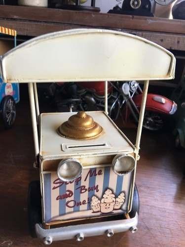carro heladero tipo  antigua chapa no esmaltada