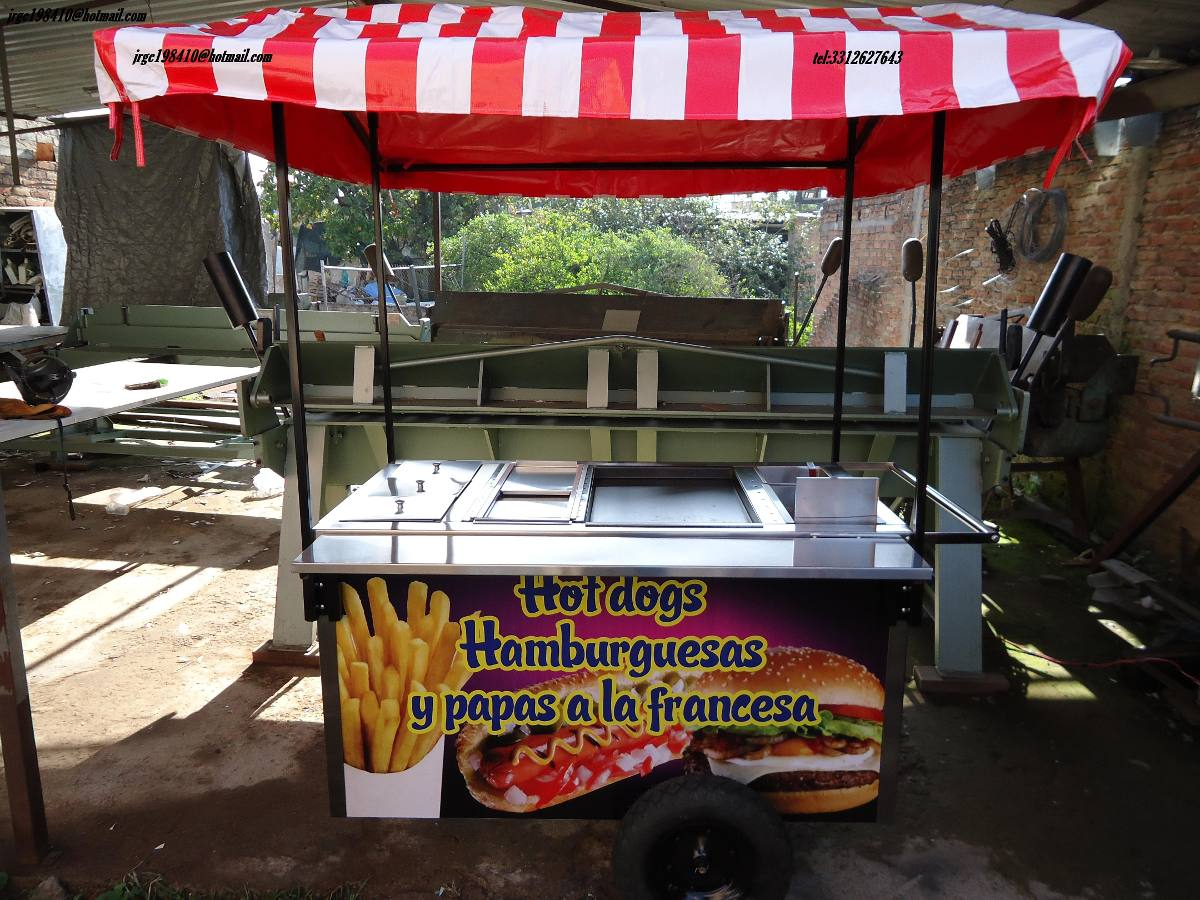 Carro hot dogs carros hot dog carreta puesto hotdogs acero for Carritos y camareras de cocina