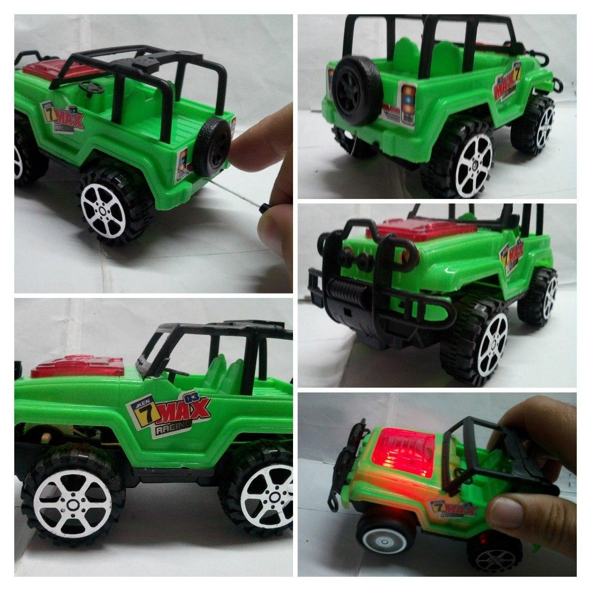 Carro Jeep Juguete De Cuerda Friccion Luces Calidad Regalo Bs 999