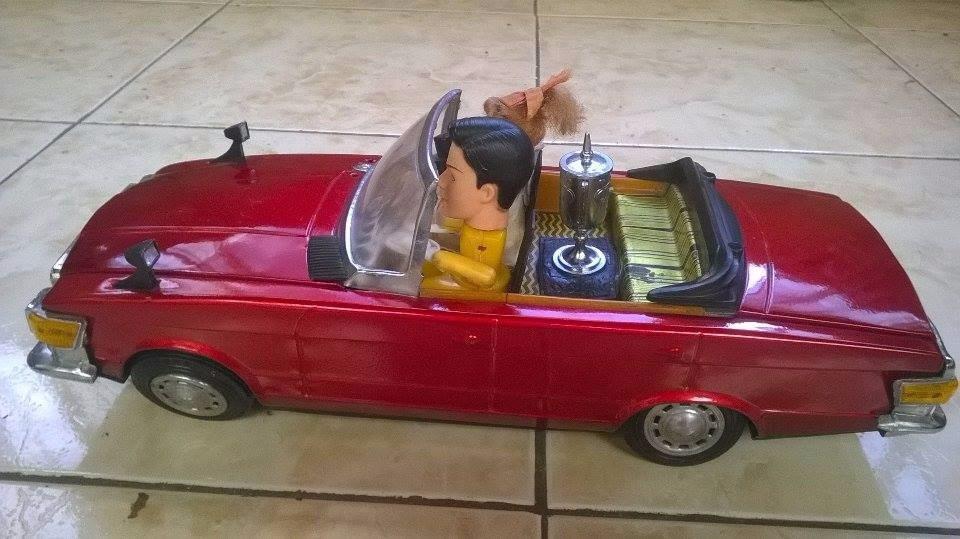 Carro Juguete Antiguo A Pilas De Coleccion Anos 60 U S 160 00 En