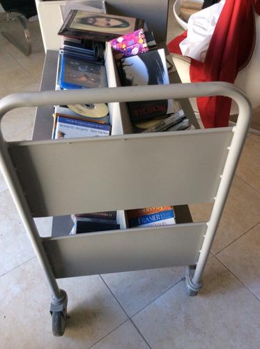 carro librero metal tipo biblioteca solo yucatán