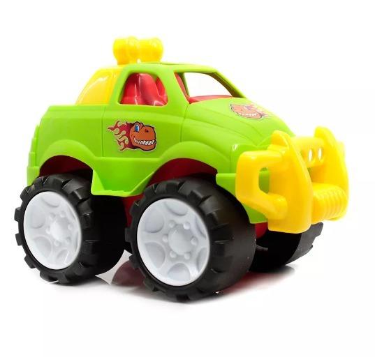 Carro Llantas Grandes 19 Cm Camioneta Color Verde Juguete Pp