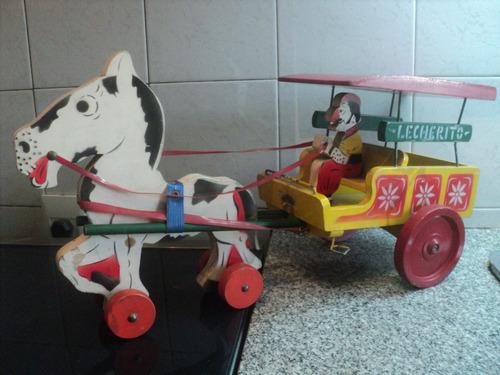 carro madera lechero herlitos gaucho caballo lecherito sulky