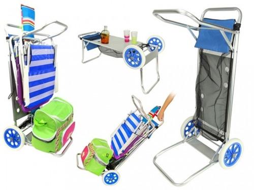 carro, mesa para playa