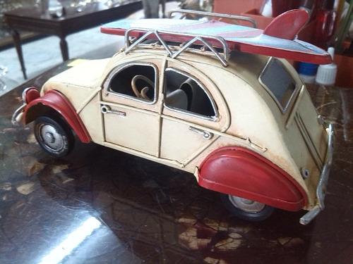 carro metalico de coleccion tipo antiguo marca citroen