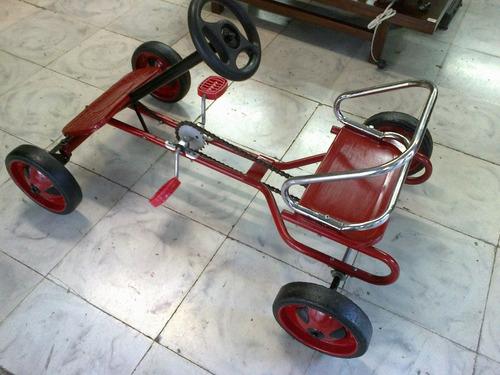 carro metalico de pedal antiguo restaurado