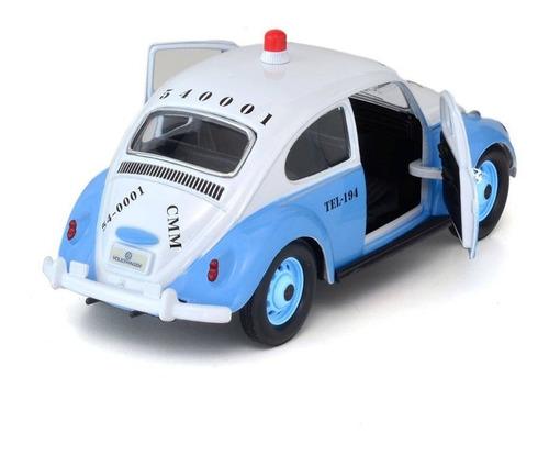 carro miniatura 67 fusca polícia militar rio de janeiro 1:24