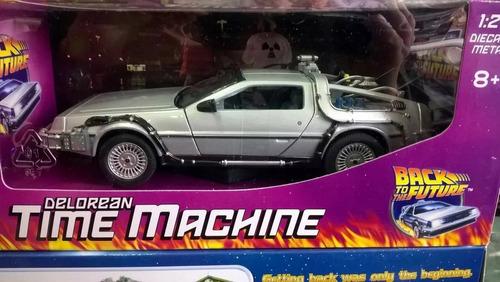 carro modelo juguete a escala delorean volver al futuro i