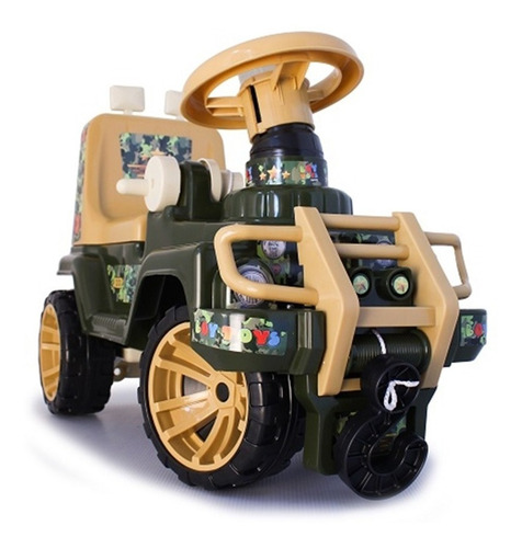 carro montable paseador infantil juguete jeep jungla niño