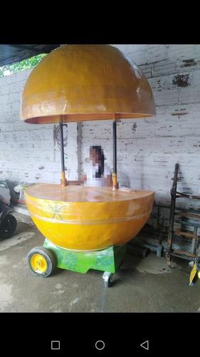 carro movible en fibra de vidrio