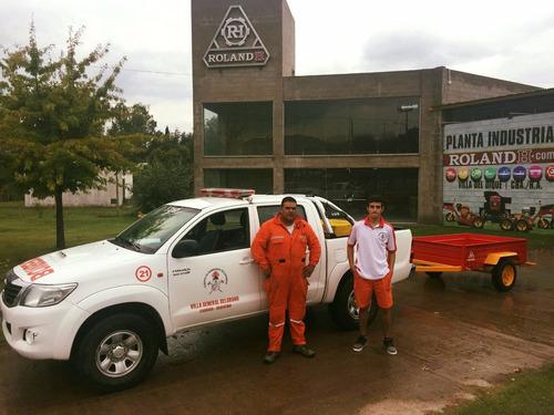 carro para cuatriciclo roland h700 lanza rebatible, trailer