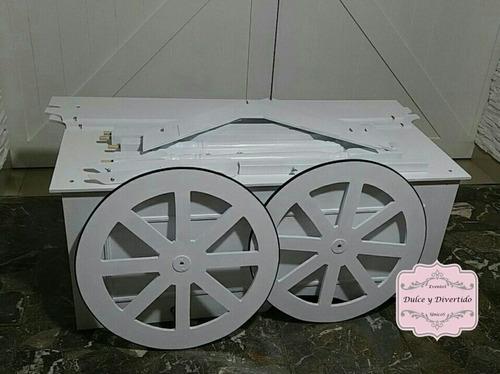 carro para golosinas - candy bautismos/15 años/bodas - venta