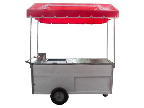 Carro para hotdog y hamburguesa vaporera plancha freidora - Plancha para hamburguesas ...