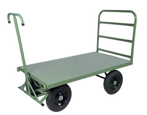 carro plataforma com freio e 1 aba. cod. 153a