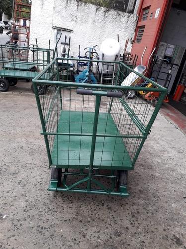 carro plataforma telado trans lixo - 2113 t l