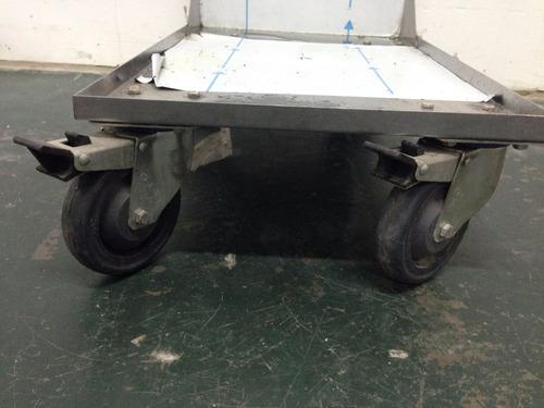 carro porta freidor de acero inoxidable nuevo p/ 10 canastos