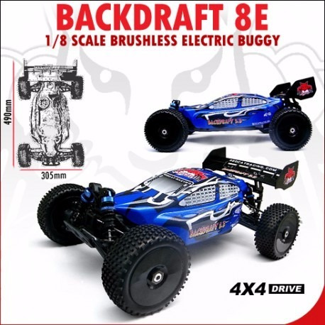 carro radiocontrol redcat backdraft 8e electrico 1/8