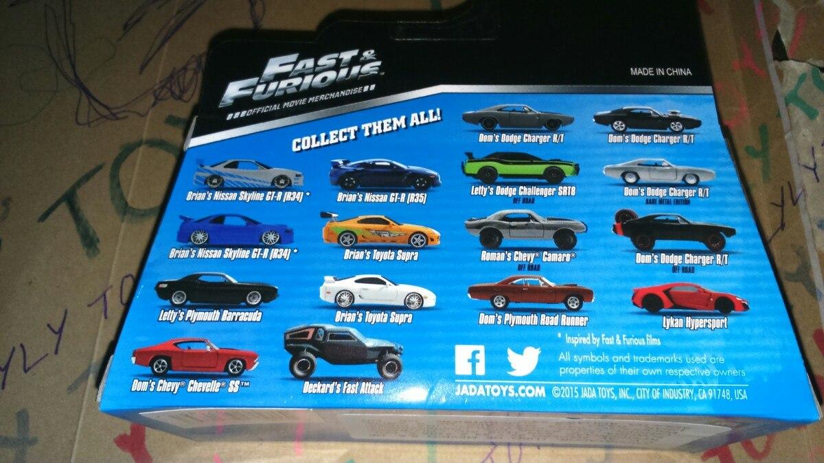 Carro Rapido Y Furioso Nissan Skyline Gtr R34 Azul Lyly