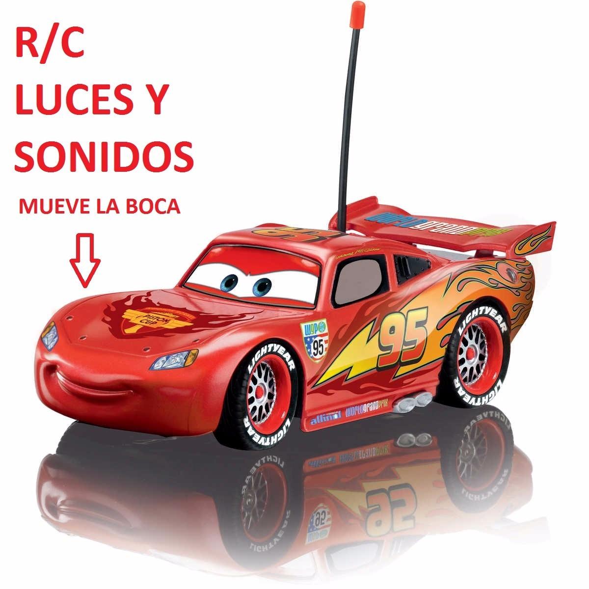 Carro Rayo Mcqueen Control Remoto R/c Mueve La Boca - $ 99