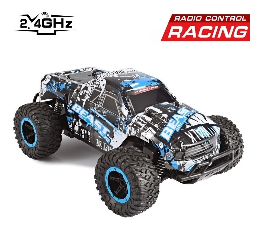 Carro Rc 1:16 2 4g 4ch Beast Off-road Muscle Extreme Power