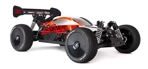 carro rc ecx revenge 1:8 4wd buggy type e bl: red/black: rtr