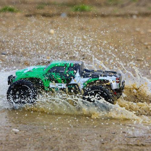 carro rc ecx ruckus 1/10 2wd monstertruck green/black rtr