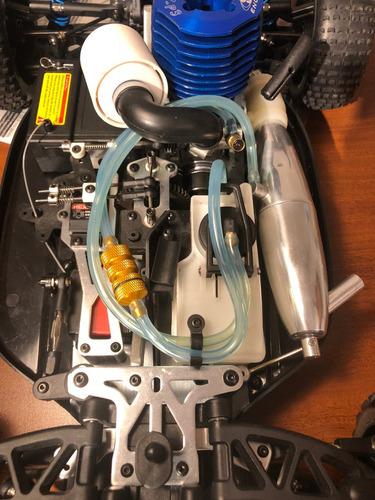carro rc  gasolina  1/8 nitro