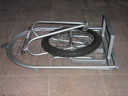 carro remolque desarmable para bicicleta