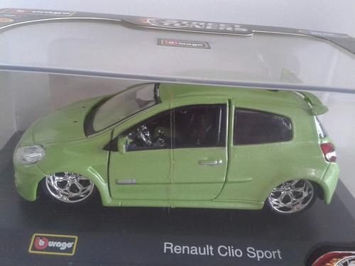 carro renault clio tuning  bburago escala 1/32