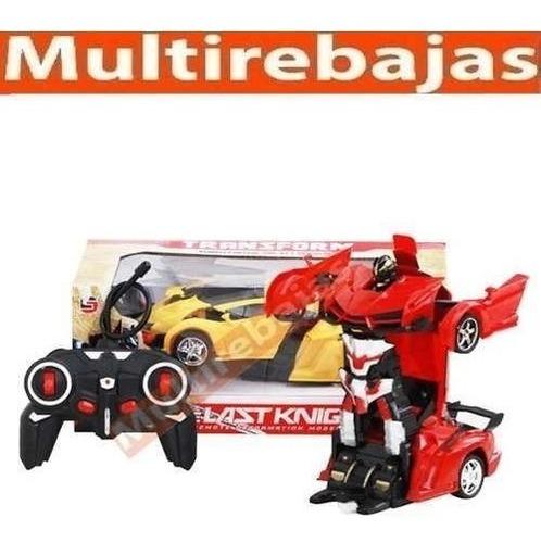 carro robots transformer a control remoto potente juguete