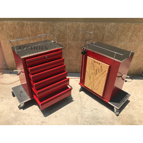 Carro Rojo Emergencias 6 Cajones, Porta Suero Y Tabla Gratis