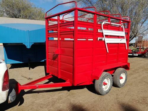 carro trailer jaula vaquero para hacienda caballos
