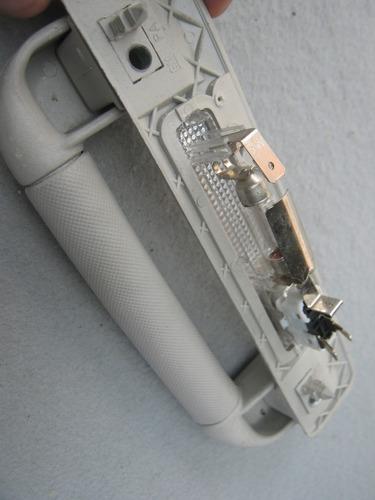 carro vectra, acessórios, apoio de mão c/ luz - gm392
